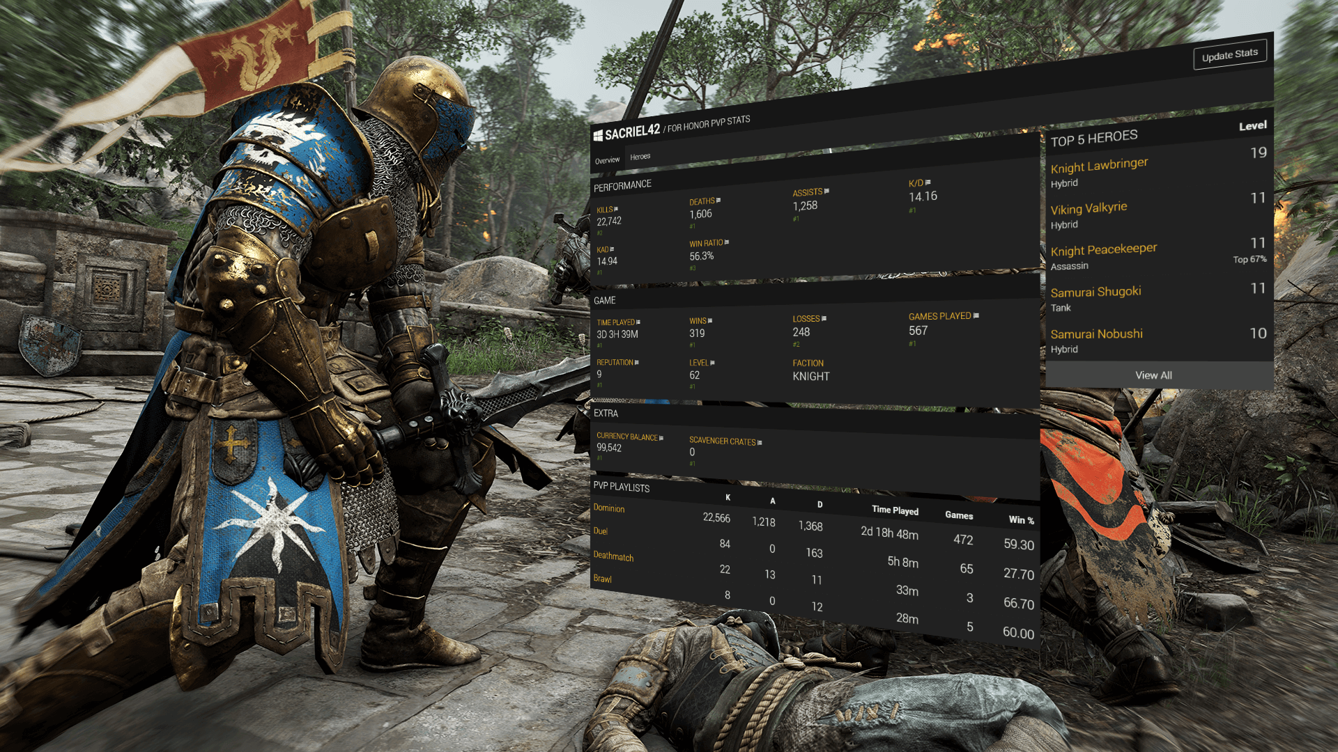 Tracker Network For Honor Stats & Leaderboards!