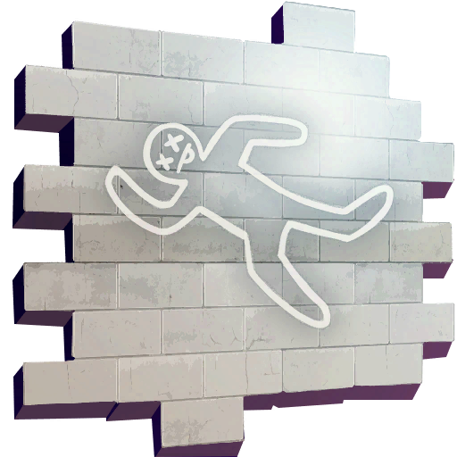 Chalk Outline Skin fortnite store
