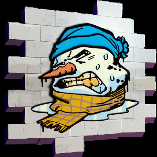 Melting Snowman Skin fortnite store