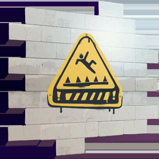 Trap Warning Skin fortnite store