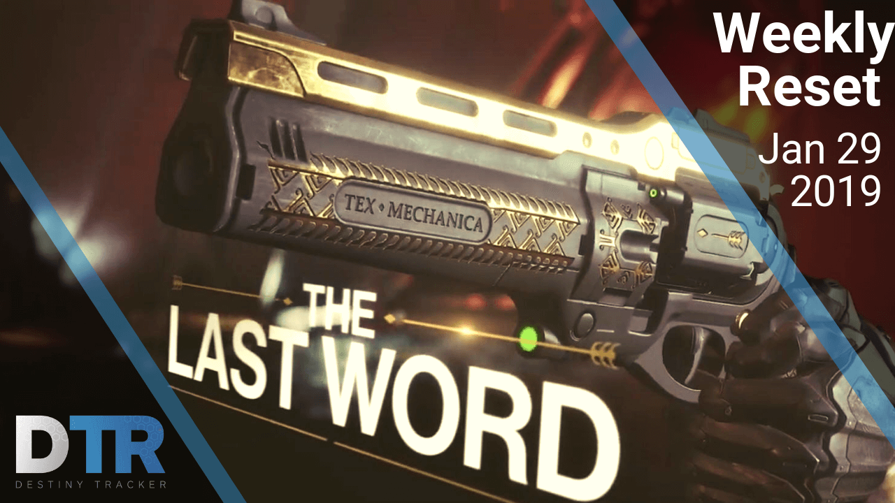 Weekly reset for January 29th (The Last Word)