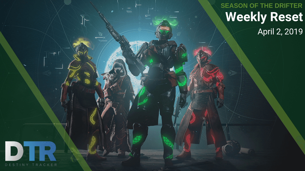 Weekly reset for April 2, 2019