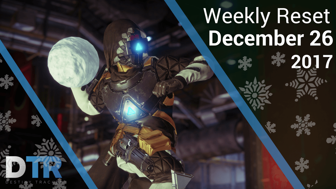 Weekly Reset for December 26th