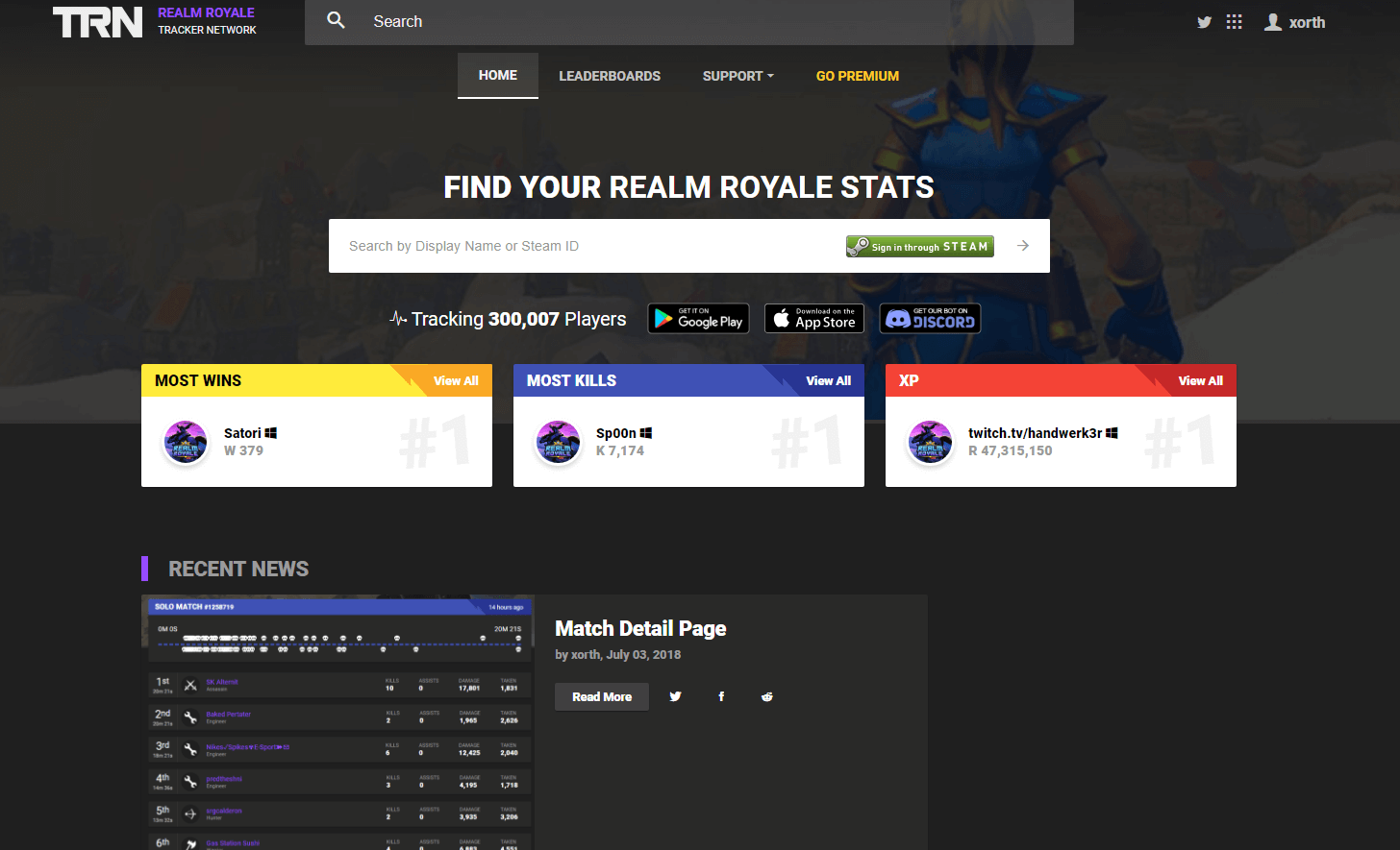 Image Result For Realm Royale Stats Stats Leaderboards More