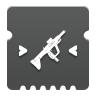 Icon depicting Submachine Gun Targeting.