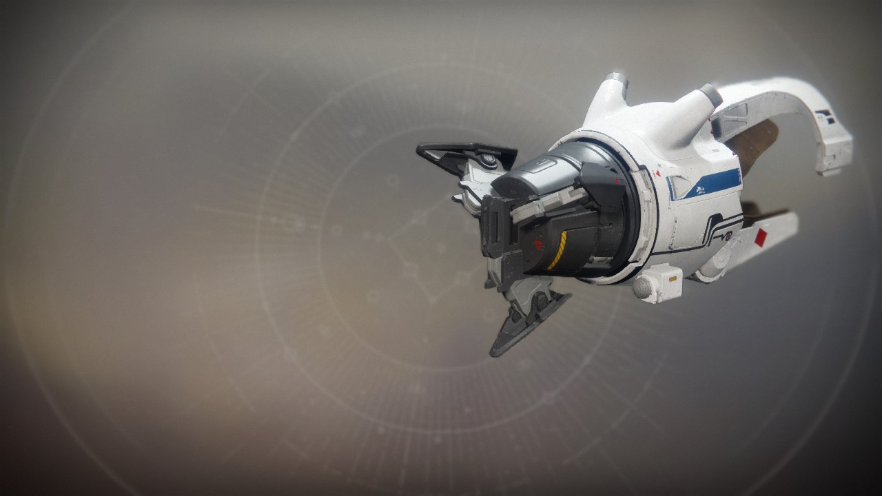 An in-game render of the Tractor Cannon.