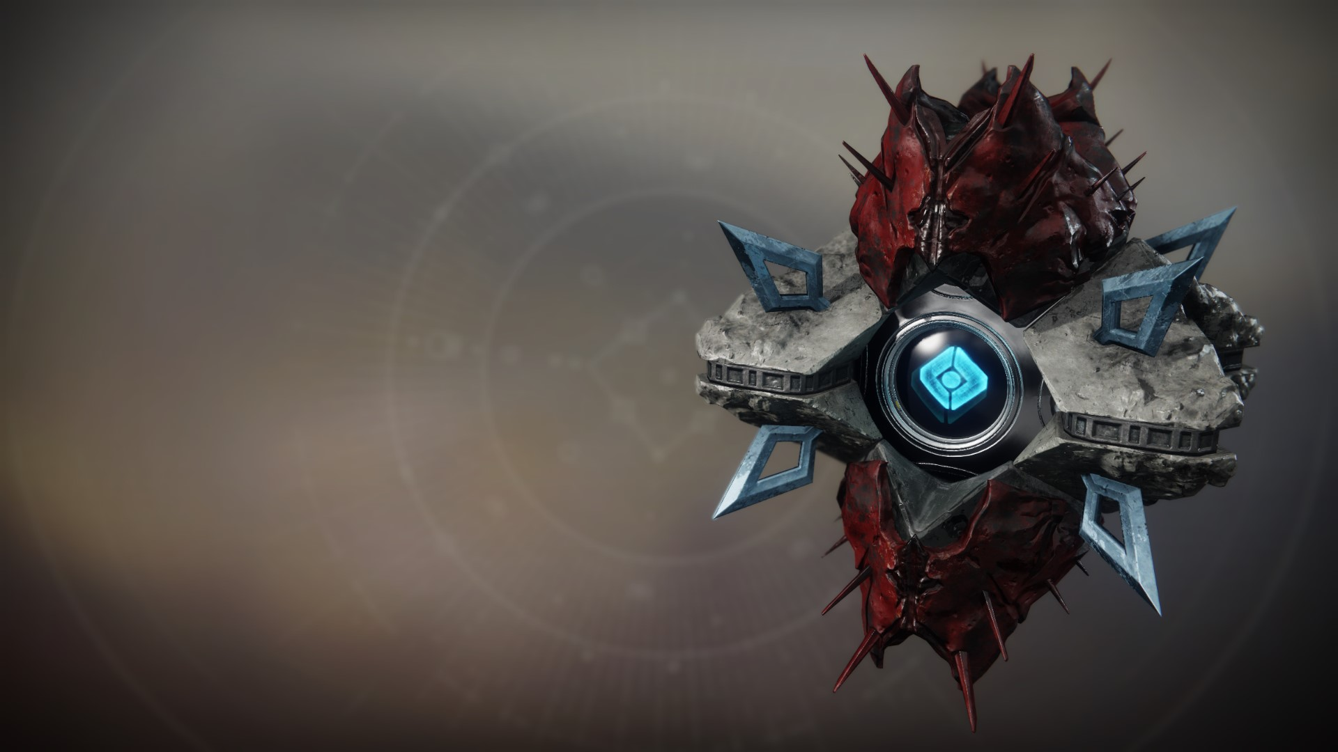 An in-game render of the Scarlet Swarm Shell.
